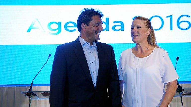 Sergio Massa y Margarita Stolbizer