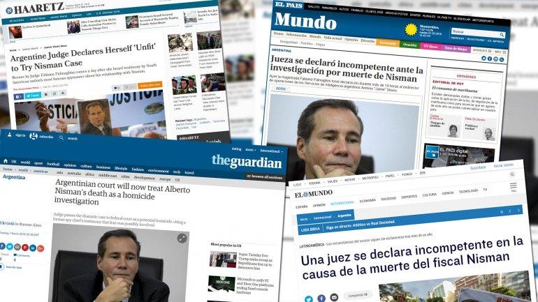 El giro en la causa Nisman, en la prensa internacional