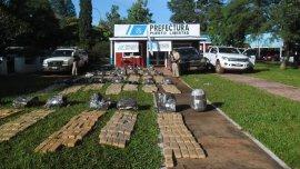 Otro golpe al narcotráfico en el norte: 942 kilos de marihuana en Misiones