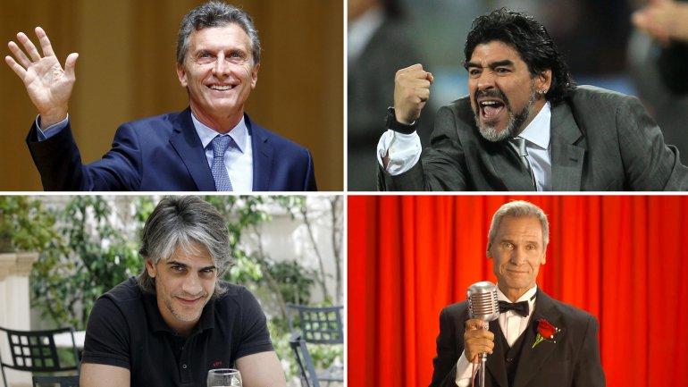 Mauricio Macri, Diego Maradona, Pablo Echarri y Raúl Taibo: famosos argentinos que no se preocupan en ocultar sus canas