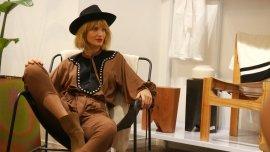 Liz Solari estuvo presente en la inauguración de Espacio Cher