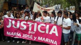 La marcha en pedido de Justicia por las jóvenes asesinadas