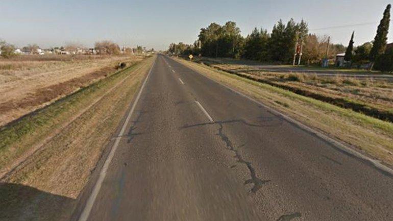La ruta provincial 18, en Rosario, donde un motociclista fue atropellado y arrastrado