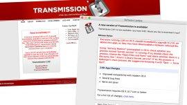 Transmission pidió a sus usuarios que actualicen el software para evitar ataques