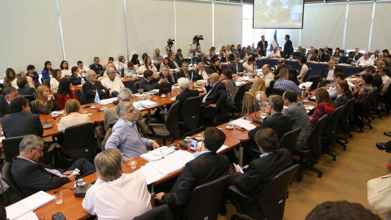 El plenario de comisiones