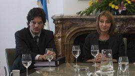 Leonardo Filippini junto a la Procuradora General de la Nación, Alejandra Gils Carbó
