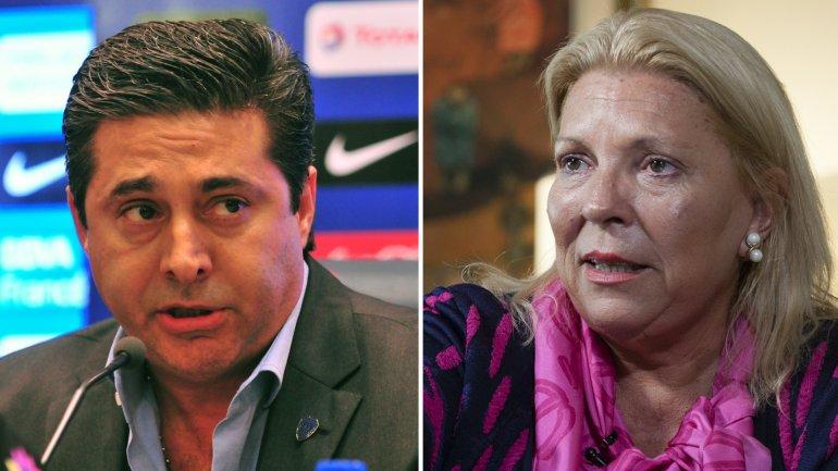 Angelici contestó las críticas de Carrió