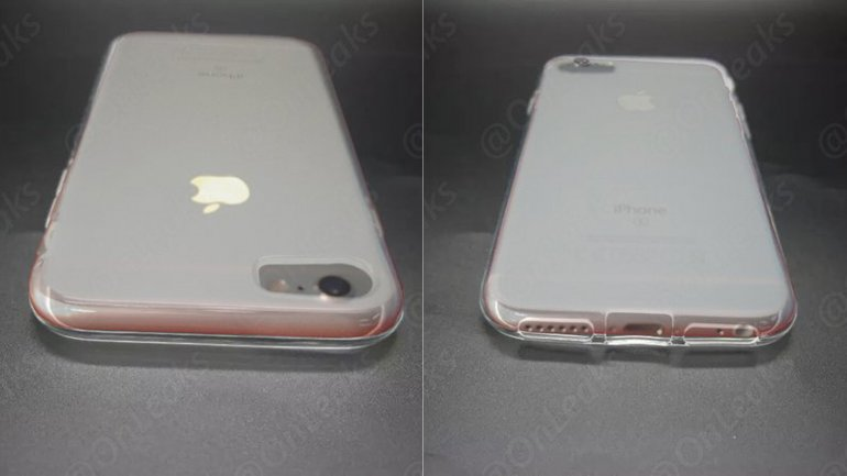Un iPhone 6 dentro de la supuesta funda para el iPhone 7