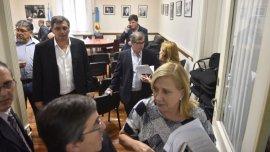 Incidentes en el bloque del FpV de la Cámara de Diputados bonaerense.