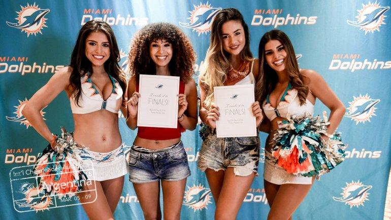 Las cinco argentinas elegidas para ser porristas en la NFL