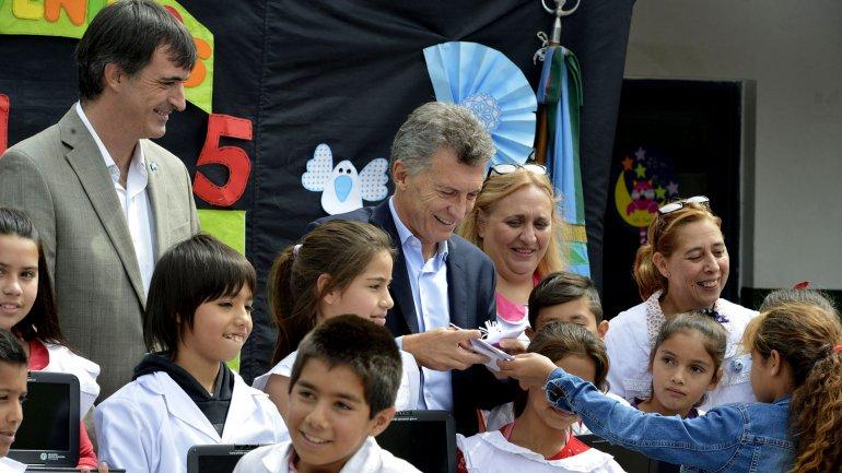 Mauricio Macri ratificó la continuidad de Conectar Igualdad
