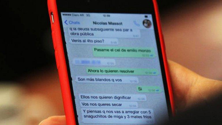 El chat de la polémica entre Diego Bossio y Nicolás Massot