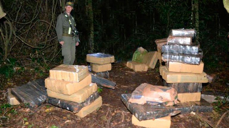 Hallaron una tonelada de marihuana cerca del río Paraná, en Misiones