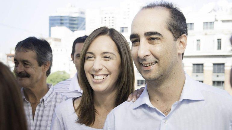 María Eugenia Vidal y su esposo, Ramiro Tagliafierro