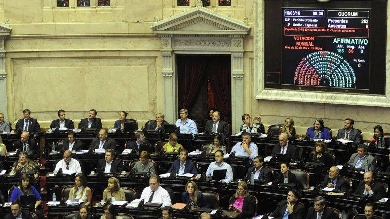 El proyecto de pago a los holdouts fue aprobado por 165 votos a favor