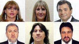 De izquierda a derecha: Miriam Gallardo, Silvia Risko, Ramón Bernabey, Jorge Franco, Graciela Caselles y Maurice Closs