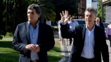El secretario de DDHH, Claudio Avruj, y el presidente Mauricio Macri.