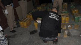 En total fueron secuestrados 412 kilos