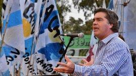 Jorge Capitanich durante un plenario K en Avellaneda realizado la semana pasada