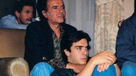 Carlos Menem junto a su hijo, fallecido en 1995