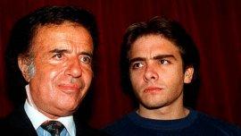 Carlos Menem junto a su hijo