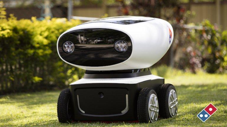 Se llama DRU (Dóminos Robot Unit), mide menos de un metro y viaja a 18 kilómetros por hora