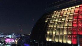 El Centro Cultural iluminado