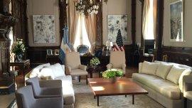 El despacho de Macri fue embellecido para la visita de Barack Obama