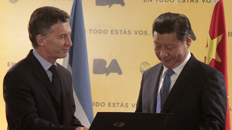 En 2014, el entonces jefe de Gobierno Mauricio Macri le entregó la llave de la Ciudad al presidente chino Xi Jinping