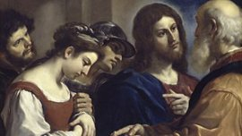 Jesús defiende a la mujer adúltera