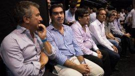 Sergio Urribarri, Jorge Capitanich y Daniel Scioli, en el último Congreso del PJ