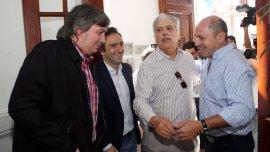 Máximo Kirchner, Andrés Larroque y Julio De Vido