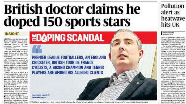 El artículo publicado por The Sunday Times