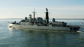 Los buques de guerra de la Marina Real británica han custodiado siempre las Malvinas desde el conflicto con Argentina en 1982.