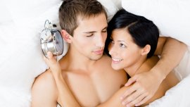 El promedio de las parejas tienen relaciones sexuales durante 5,4 minutos