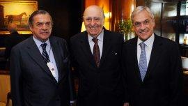 Carlos de la Vega recibió a los ex presidentes José María Sanguinetti y Sebastián Piñera
