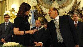 Otros tiempos. Cristina Kirchner le toma juramento a Mussi