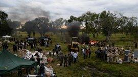 La destrucción se realizó en un campo de Corrientes