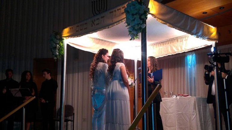 En una sinagoga porteña: celebraron la primera boda gay religiosa de Latinoamérica