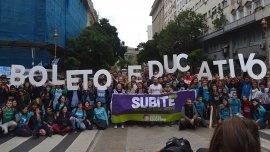 El reclamo de un boleto estudiantil es uno de los ejes de la protesta de alumnos y docentes