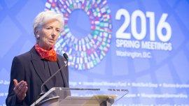 La titular del FMI Christine Lagarde