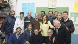 Cristina Kirchner se reunió con un grupo de curas