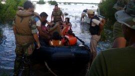 La Armada Argentina colaboró en los operativos para asistir a las víctimas
