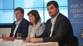Eugenio Burzaco, Patricia Bullrich y Gerardo Milman, funcionarios del Ministerio de Seguridad