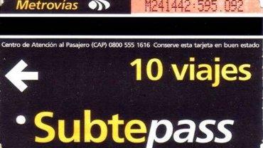 Desde el lunes no se venderá más el Subtepass