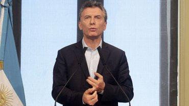 Mauricio Macri este martes en conferencia de prensa