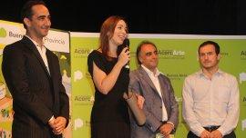 Ramiro Tagliaferro acompañó a María Eugenia Vidal en el lanzamiento de AcercArte