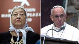 La titular de Madres de Plaza de Mayo consideró que es un momento oportuno para poder hablar con el Papa
