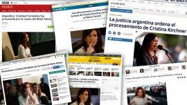 Los medios del mundo reflejaron el procesamiento de Cristina Elisabet Kirchner