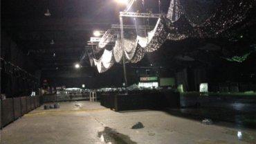 Imagen del interior del predio de Costa Salguero, tras la fiesta donde murieron cinco jóvenes